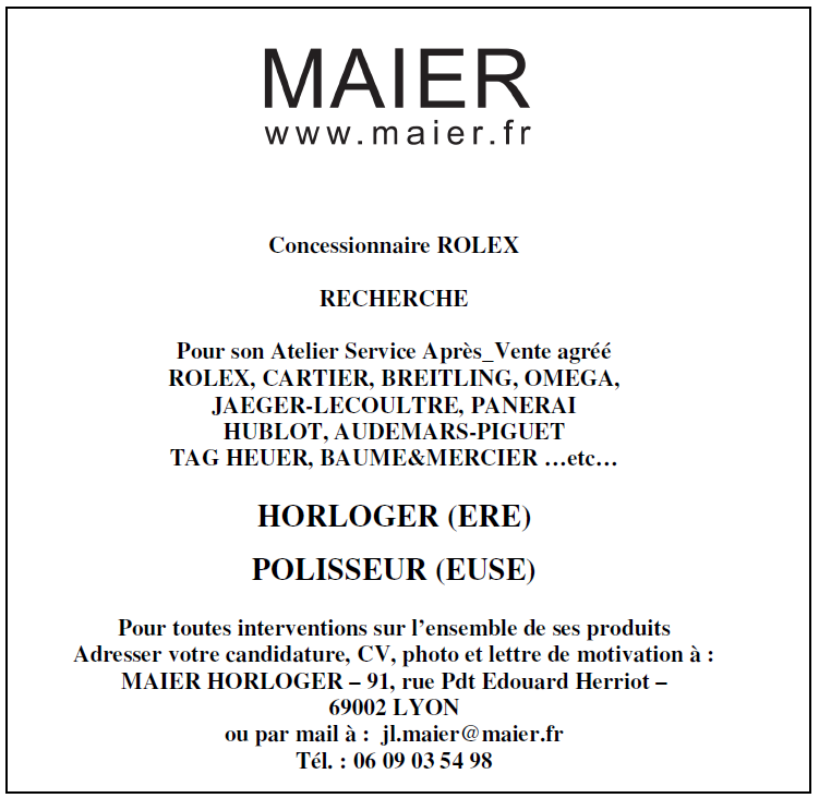 Maier Carriere